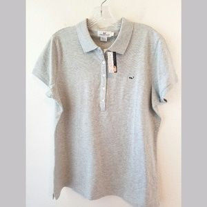 Vineyard Vines Gray SS Polo Tshirt NWT Sz Large